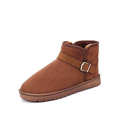 Boots Luce Sella Stivali Stivali Chiusa Suole 5 Bootie Combattere Autunno Moda Snow EU38 Punta Donna UK5 Stivali CN38 Stivali 5 US7 RTRY Scarpe Tacco Comfort Pu Piatto Inverno 1v6cqT0wA8