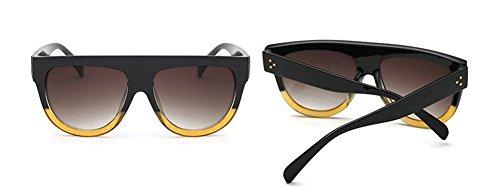 de cercle du Noir et métallique retro lunettes rond en vintage Lennon soleil polarisées style Jaune inspirées dI6Aqv