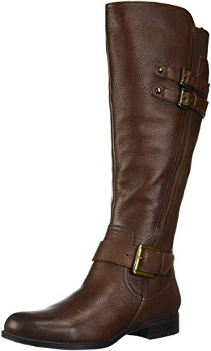 Naturalizer Women's Jessie Wide Calf Knee High Boot, Chocolate Wc, 9 M US ()
