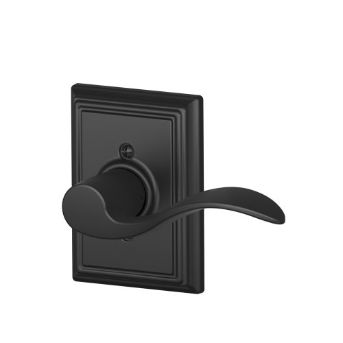 Accent Dummy Lever Set - Accent Right Handed Lever with Addison Trim Non-Turning Lock, Matte Black (F170 ACC 622 ADD RH)