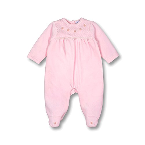 Le Top Bebe Treasured Baby Girl Footed Velour Jumpsuit Onesie With Rosebuds-3M (Outfit Rosebud)