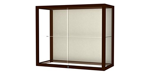 Waddell 894M-PB-C Heirloom 36 x 30 x 14 in. Wall or Top Display Case for Heritage Counter44; Plaque Back - Cordovan