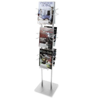 6 Pocket Magazine Display Rack Finish: Silver
