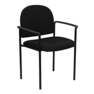 Flash Furniture Comfort Stackable Steel Side Reception Chair with Arms