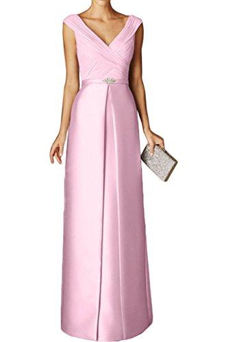 Schnitt Schmaler Tuerkis Kurzarm Partykleider Bodenlang Braut Abendkleider Ballkleider Rosa Ausschnitt La Marie V EPAvZx4q4w