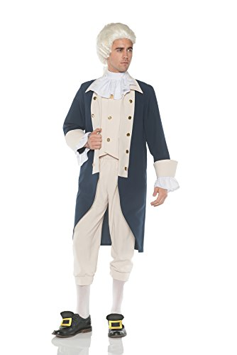 Men's Founding Father Hamilton/Washington Costume, OS (Costume Pantaloons)