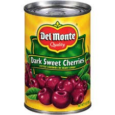 (Del Monte Dark Sweet Cherries (Pitted) in Heavy Syrup 15oz Can (Pack of)
