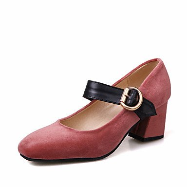 Le donne eleganti sandali SEXY DONNA PRIMAVERA tacchi altri similpelle Party & abito da sera Chunky fibbia tacco verde nero rosa rosso , rosso , noi9.5-10 / EU41 / uk7.5-8 / CN42