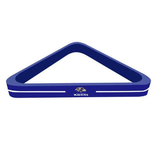 Imperial Officially Licensed NFL Merchandise: Wood Triangle Billiard/Pool Ball Rack, Baltimore Ravens
