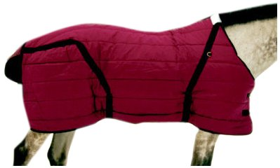 Pony Stable Blanket - High Spirit Snuggie Pony Stable Blanket, 56-Inch, Burgundy/Black