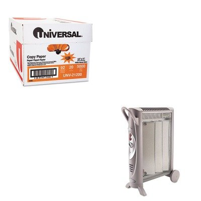 KITBNRBH3950UUNV21200 - Value Kit - Bionaire Micathermic Element 1500W Console Heater (BNRBH3950U) and Universal Copy Paper (UNV21200)