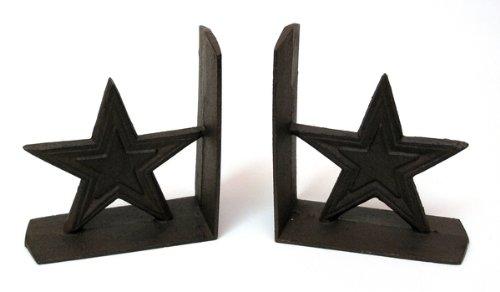 IWGAC 0170S-04411 Cast Iron Star Bookends from IWGAC