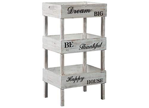 Tres Antique Chic - Signature Design by Ashley A4000091 Yulton Storage Shelf Antique White