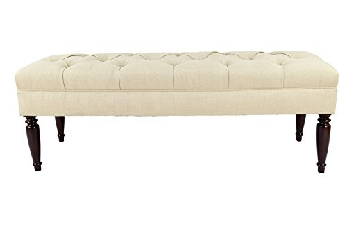 MJL Furniture Designs Claudia Collection Upholstered Diamond Tufted Bedroom Accent Bench, HJM100 Series, Beige Upholstered Bed Series