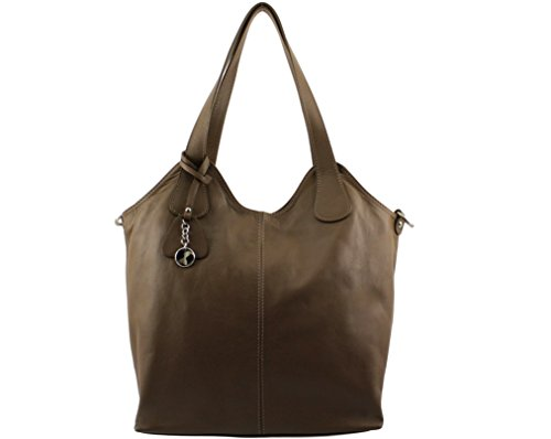 main Sac Taupe a Foncé CHLOLY Sauvage cuir Francisca Italie EqanH