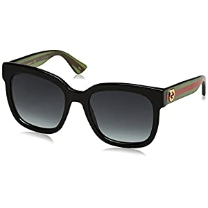Gucci 0034S 002 Black 0034S Square Sunglasses Lens Category 3 Size 54mm