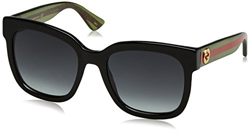 Gucci 0034S 002 Black 0034S Square Sunglasses Lens Category 3 Size - Gucci Black All