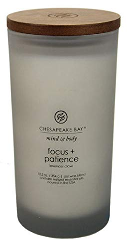 (Chesapeake Bay Candle Scented Candle, Focus + Patience (Tobacco Cedar))