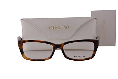 Valentino V2615R Eyeglasses 52-16-130 Havana 214 - Glasses Reading Valentino