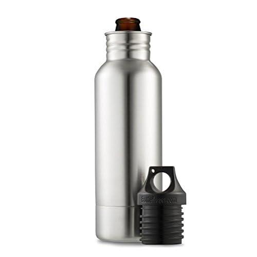 BottleKeeper - The Original Stainless Steel Beer Bottle Holder and Insulator to Keep Your Beer Colder