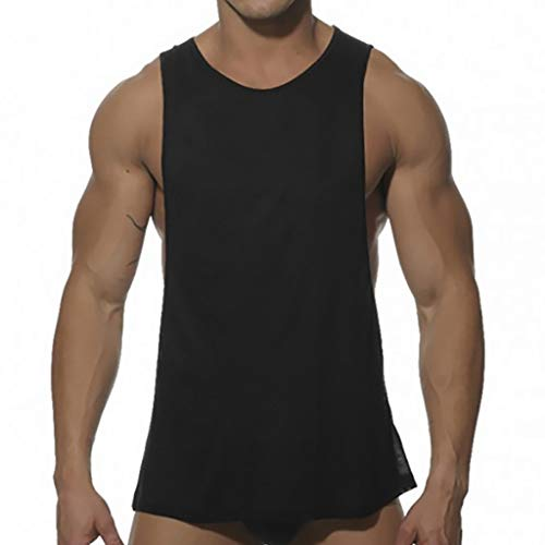 YKARITIANNA Men's New Summer Sports Vest Pure Cotton Pure Large Open-Forked Muscle Male Vest