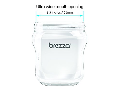 Baby Brezza Glass Baby Bottle Starter Gift Set - 6 Bottles and 8 Nipples Plus Bottle Brush and Cleaning Cloths - Kit is Great for Newborns and Infants - Borosilicate Glass Bottles by Baby Brezza (Image #6)