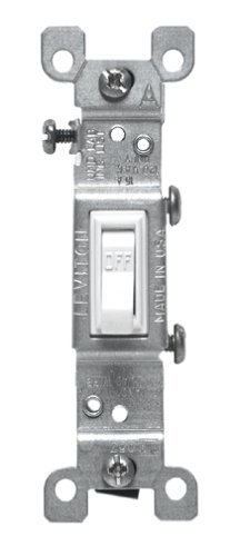 Decorative Switch - Leviton S02-1451-2WS Quiet Single Pole Switch
