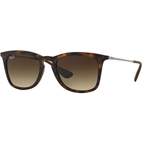 Ray-Ban RB4221 Square Sunglasses, Dark Rubber Havana/Brown Gradient, 50 mm