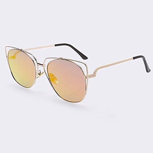 Verano para espejo de de sol Ojo de Metal Gato TIANLIANG04 C05 Ojos revestimiento Red rosa de estilo gato lujo el de gafas de de gafas de Mujeres C04 Gafas UV400 q80aR