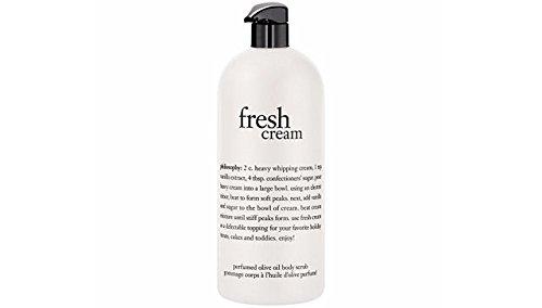 Philosophy Fresh Cream Perfumed Olive Oil Body Scrub, 946ml/32oz