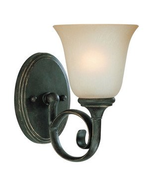 - Craftmade Lighting 24201-MB Barret Place - One Light Vanity, Mocha Bronze Finish with Etched Painted Glass