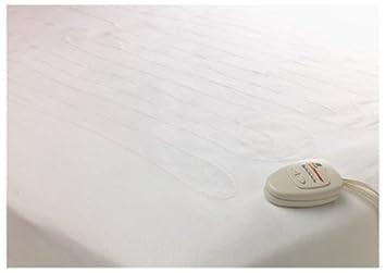 Westpoint Stevens Inc Resto Seguro restwarmer colchón de Doble Control Pad, poliéster acrílico, Blanco, Matrimonio Doble: Amazon.es: Hogar