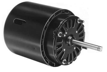 Fasco D475 3.3'' Frame Open Ventilated Shaded Pole Refrigeration Fan Motor with Sleeve Bearing, 1/15HP, 1550rpm, 460V, 60Hz, 0.5 amps