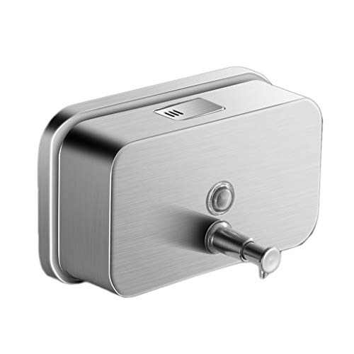 id Soap Dispenser - Push Button Wall Mounted 1000ml (Color : Rectangular, Size : 1000ml) ()
