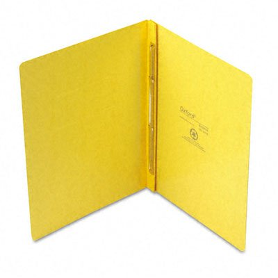 Oxford : PressGuard Report Cover, Prong Clip, Letter, 3'' Capacity, Yellow -:- Sold as 2 Packs of - 1 - / - Total of 2 Each