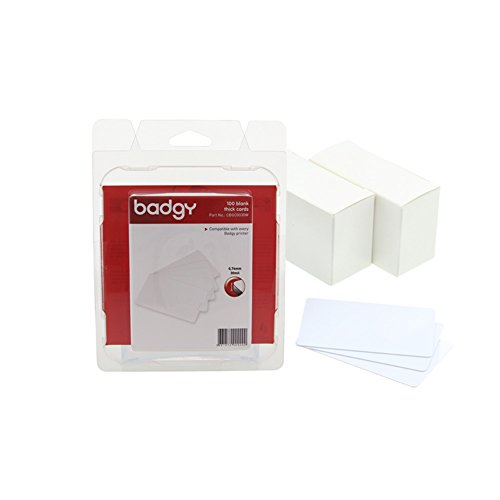 Card Badgy Pvc (Badgy 30 Mil Thick PVC Cards - 100 Per Pack - CBGC0030W)