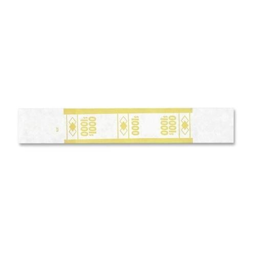 55031 PM SecurIT $1,000 Currency Strap – 1.25″ Width x 7.88″ Length – 1000 Wrap(s) – Self-stick, Adhesive – Kraft – Yellow