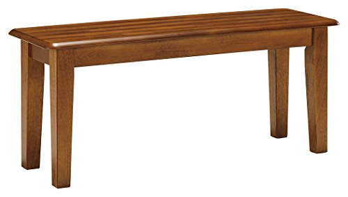 Ashley Furniture Signature Design - Berringer Dining Bench - Rectangular - Vintage Casual - Rustic Brown Finish (Traditional Bench Style)