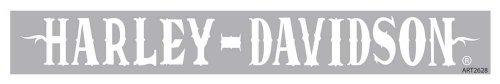 white harley davidson decal - 3
