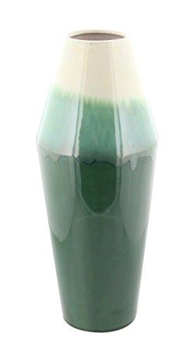 (Deco 79 59939 Glazed Green Ceramic Tapered Vase, 16
