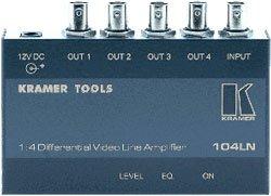Kramer 104LN 1:4 Composite Video Differential & Line (Video Differential Line Amplifier)