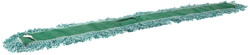 "Rubbermaid Commercial FGJ85800 Microfiber Loop Dust Mop, 60"" Length x 5"" Width, Green"