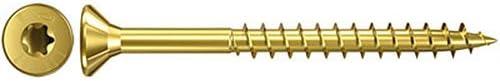 Zinc Fischer 651426 3.5 x 45 mm TG TXClassic-Fast Countersunk Head Screw 1000-Piece
