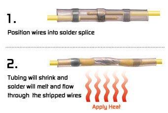 AIRNIX-200-Piece-Assorted-Heat-Shrink-Solder-Sleeve-Crimpless-Butt-Splice-Connectors