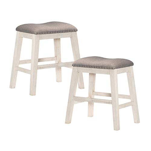 Lexicon Counter Height Stool (Set of 2), Antique White