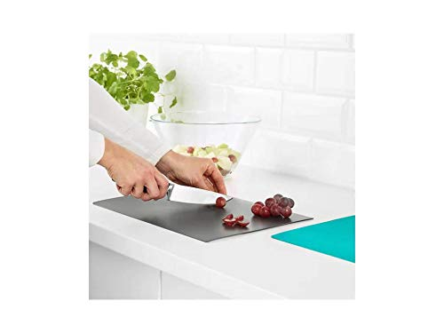 Ikea FINFORDELA Bendable Chopping Board, 28×36 cm (Dark Turquoise and Grey) Price & Reviews
