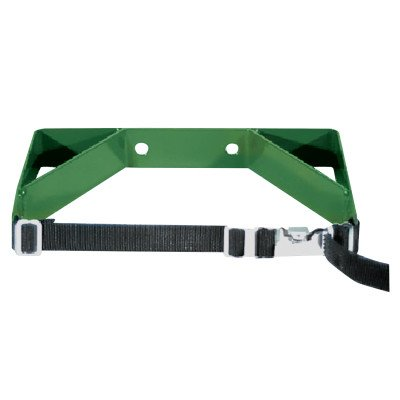 Anthony WB200 Dual Cylinder Wall Bracket with Strap, Holds M60, M, H or T Size Cylinder, Green - Cylinder Bracket