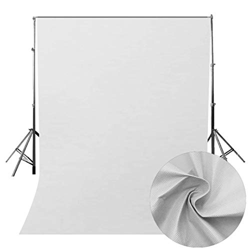 vmree Indoor Photographic Studio Backdrop, Professional Photo Shooting Background Props Wall Hanging Screen Post-Production Curtain Folding & Washable Art Cloth 5.2x6.6 FT. (Gray) -
