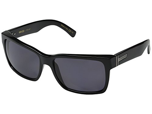 VonZipper Elmore Men's Polarized Casual Sunglasses/Eyewear - Color: Black Gloss/Grey Poly, Size: One Size Fits - Sunglasses Poly