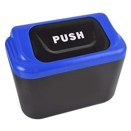 Portable Mini Auto Car Vehicle Trash Garbage Dust Case Holder Rubbish Can Box
